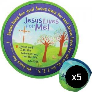 Jesus Lives For Me! Flying Disc - Pack of 5
