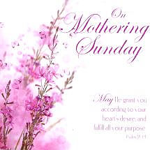 On Mothering Sunday - Single Card