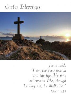 Easter Blessings Cross Minicards - Pack of 4