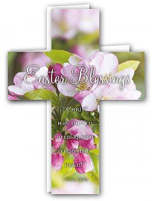 Easter Blessings Cross Card Pack of 4