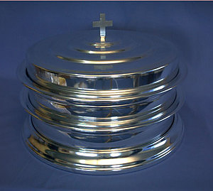 Silvertone Communion Tray Cover