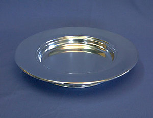 Silvertone Bread Plate (Stacking)