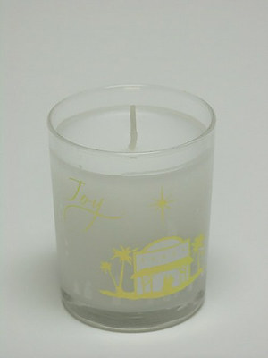 Joy Candle In Glass - Single