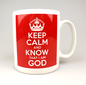 Keep Calm and Know God Red Mug