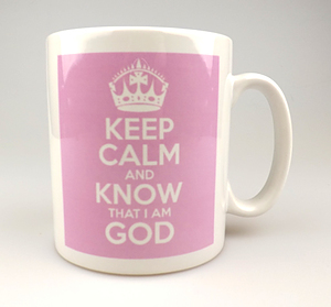 Keep Calm and Know God Pink Mug