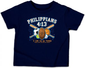 All Things Kidz T Shirt: Blue, Children's Small