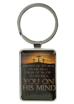 On His Mind Metal Keyring