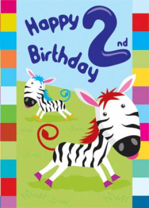 2nd Birthday Card - Single