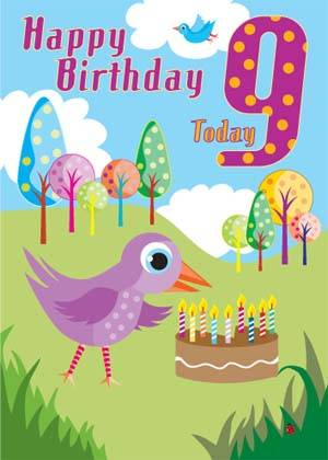 9th Birthday Card - Pack of 6 | Free Delivery @ Eden.co