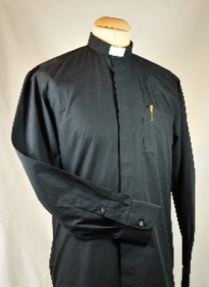 Men's Black Clerical Shirt 14.5