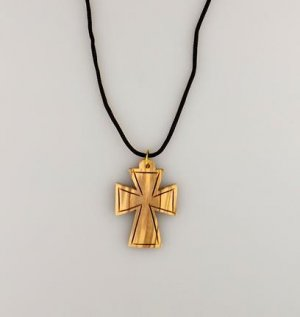 Olive Wood Cross Necklace