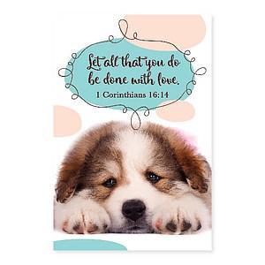 Memo Pad Puppy 1 Corinthians