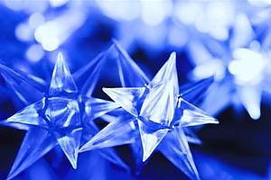 40 Blue Star Lights