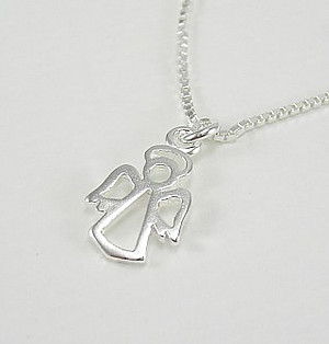 Open Angel Pendant: Silver