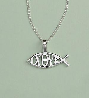 Silver Fish & Ixoye Pendant