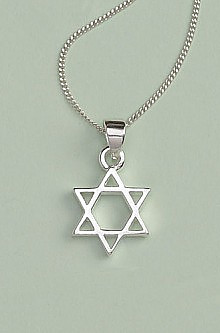 Star of David Pendant: Silver