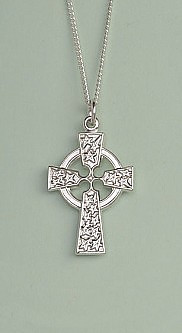 Celtic Cross Pendant: Silver, Large