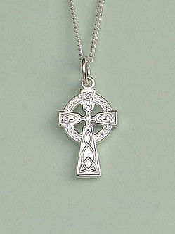 Celtic Cross Pendant: Silver, Small