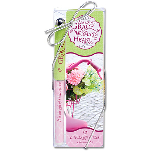 Amazing Grace of a Woman's Heart Bookmark and Pen Set