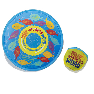 Dive Into God's Word Flying Disc and Pouch