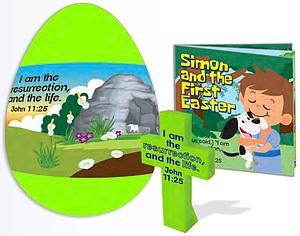 Jumbo Gospel Egg with Cross and Booklet