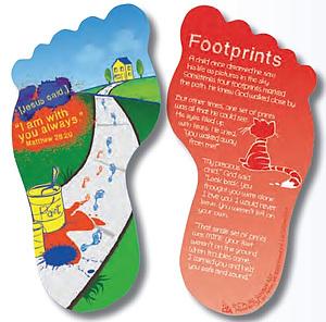 Footprints Bookmark for Children