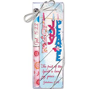 Love Joy Peace Pen and Bookmark Set