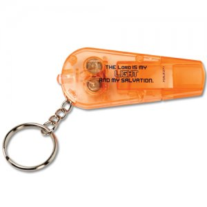 GLOW God Lights Our Way Whistle and Flashlight Keychain