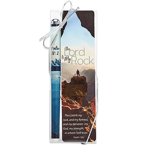 The Lord is My Rock Bookmark and Pen Set