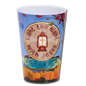 Light the Night with Jesus Plastic Tumbler (Single)