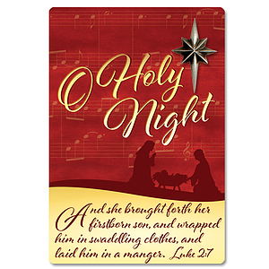 O Holy Night Pin and Presentation Card