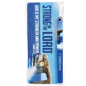 Strong in the Lord Bookmark and Pen Set