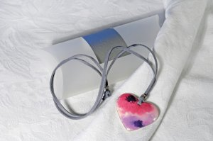 Eddie Askew Ceramic Heart Pendant