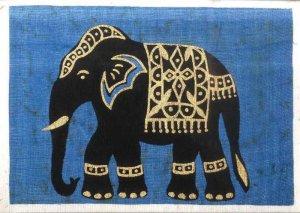 Batik Elephant card