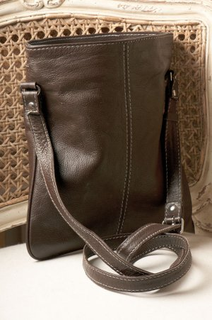 Brown Leather Messenger Bag