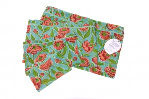 Teal Floral Oranisers (set of 4)