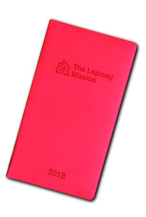 The Leprosy Mission Diary 2018 - Red