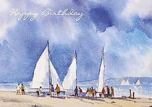 Eddie Askew Seascape Birthday Cards (Pack of 4)
