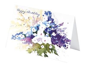 Eddie Askew Floral Birthday Cards (pack of 4)
