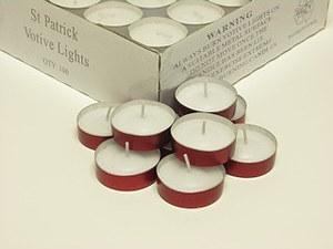 St Patrick Metal Case Votive Lights - Pack of 100