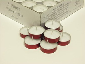 St Patrick Plastic Case Votive Lights - Pack of 100