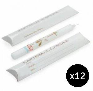 Baptism Candles Value Pack - Pack of 12