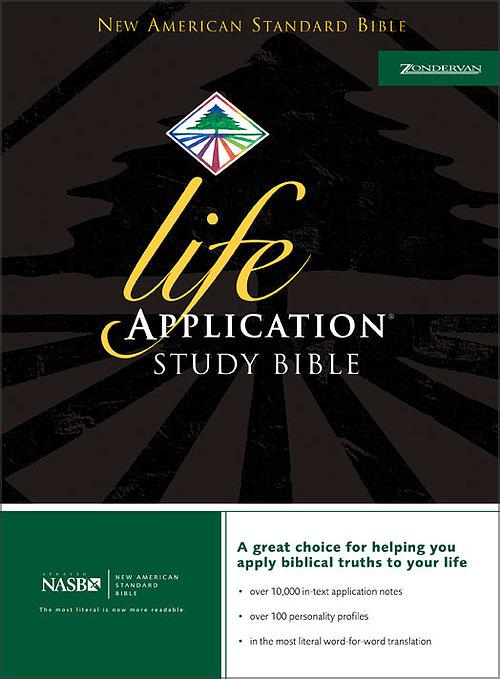 NASB Life Application Study Bible: Burgundy, Bonded Leather
