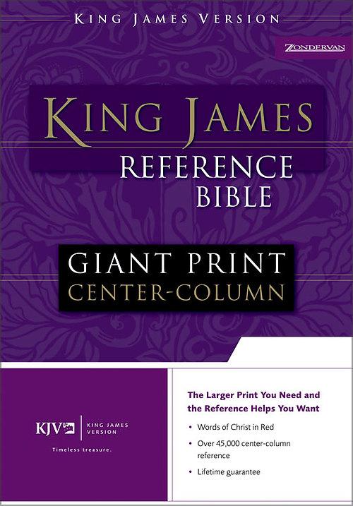 KJV Giant Print Bible: Black, Bonded Leather, Thumb Index