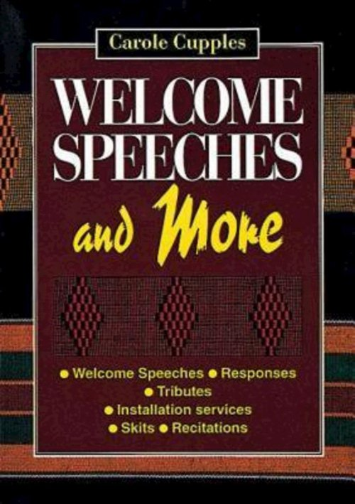 Welcome Speeches and More | Free Delivery when you spend £ ...