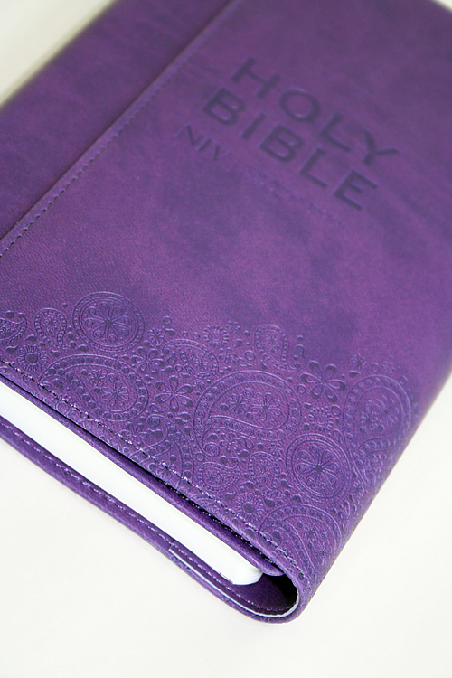 NIV Thinline Purple Soft-tone Bible | Free Delivery @ Eden co uk