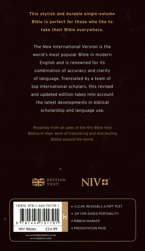 NIV Diary Bible: Brown, Leather Bonded