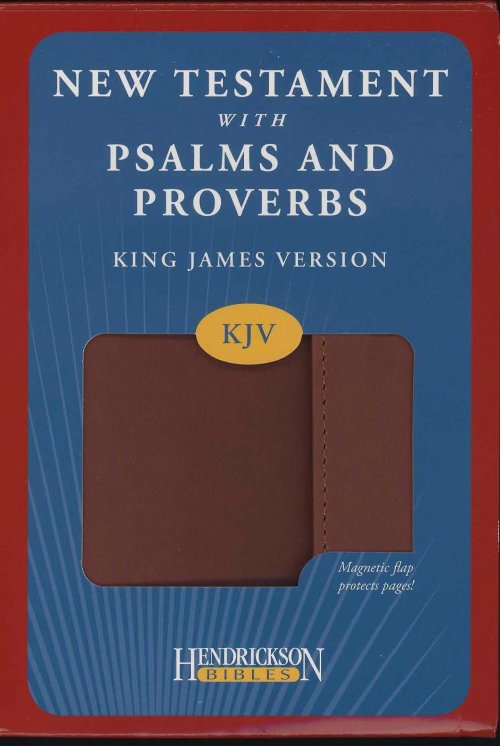 KJV New Testament with Psalms and Proverbs Imitation Leather Brown