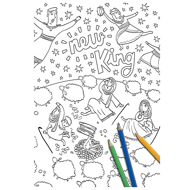 The Christmas Promise Book.The Christmas Promise Giant Colouring Poster