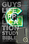 NLT Guys Life Application Study Bible: Leather-Like, Glow in the Dark Cover